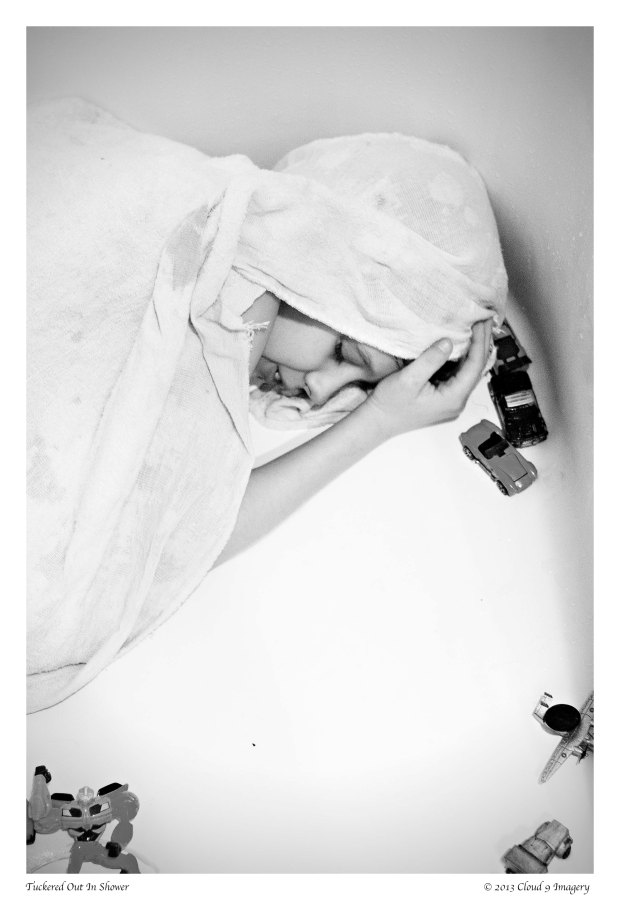 """Tuckered Out In Shower""© 2013 Cloud 9 Imagery"