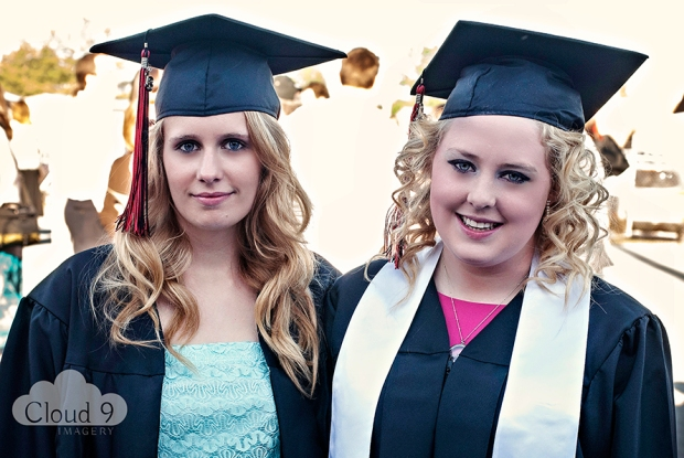 Kimberly Thompson & Kaci Smith Before Graduation Ceremonies © 2013 Cloud 9 Imagery