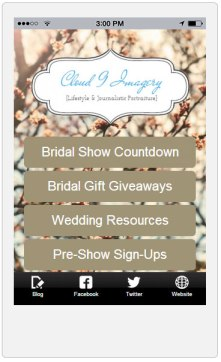 Screenshot of Bridal Show App Being Designed
